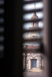 Carmine Maggiore dome view from the window. Palermo, Sicily Royalty Free Stock Photo