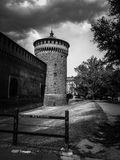 Carmine tower of the Sforza Castle in Milan. royalty free stock photo