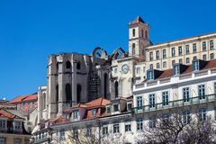 Carmo Archaeological Museum in Lisbon, Portugal Stock Images