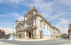 Carmo and Carmelitas churches. Porto, Portugal. Porto, Portugal - June 16, 2018: Carmo and Carmelitas churches look like the biggest church in the city. In fact stock photography