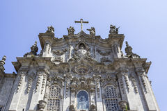 Carmo Church facade detail, in Porto. Stock Photography
