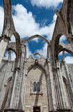 Carmo Church. Famous Carmo Church ruins after the earthquake in 1755 in Lisbon Royalty Free Stock Images