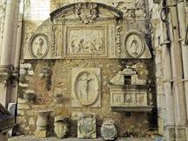 Carmo Church, Lissabon Stock Foto's