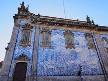 Carmo Church in Porto. Tiled Wall of Carmo Church in Porto, Portugal Stock Photography