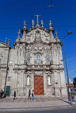 Carmo Church. Rococo architecture Stock Photos