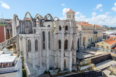 Carmo church. View of Carmo church in Lisbon Stock Photos