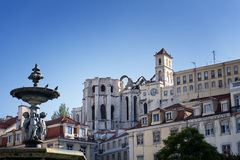 Carmo Church. View of Carmo Church in Lisbon, Portugal Stock Photography