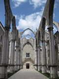 Carmo Convent. Carmo Church ruins in Lisbon, Portugal Stock Photos