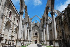 Carmo Convent. Left ruined after the earthquake of 1755 Lisbon Stock Photography