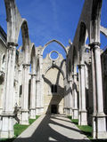 Carmo Convent in Lisbon. It stands as a memorial to the huge earthquake, fire and tsunami that stroke Lisbon in 1755 killing over 60.000 people Stock Image