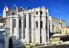 Carmo Convent, Lisbon, Portugal. Carmo Convent (Portuguese: Convento da Ordem do Carmo) is a historical building. The medieval convent was ruined in the 1755 Royalty Free Stock Images