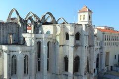 Carmo convent in Lisbon Royalty Free Stock Photos