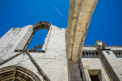 Carmo convent in Lisbon, Portugal. Royalty Free Stock Photo
