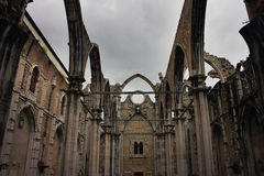 Carmo convent in Lisbon, Portugal Royalty Free Stock Photography