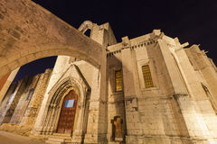 Carmo Convent in Lisbon Royalty Free Stock Images