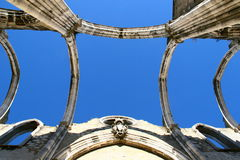 Carmo convent ruins Royalty Free Stock Photos