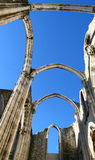 Carmo convent ruins Royalty Free Stock Photo
