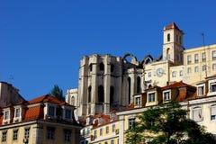 Carmo kloster, Lisbon, Portugal Arkivfoton