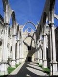 Carmo-Kloster in Lissabon stockbild