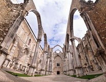 Carmo-Kloster in Lissabon Portugal lizenzfreies stockfoto