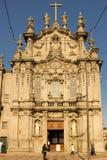 Carmo kyrka. Rokokofasad. Porto. Portugal royaltyfria foton