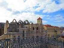carmo robi igreja Portugal ruinom Lizbońskiego zdjęcie stock
