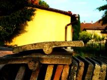 carmona κεραμίδια της Σεβίλης Ισπανία στεγών πυλών φρουρίων Στοκ Εικόνες