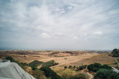 Carmona in Andalusia. Landscape view from the village of Carmona in Andalusia, Spain Royalty Free Stock Image