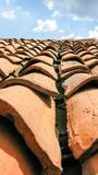 carmona forteczne bramy dachu Seville Spain płytki zdjęcia stock