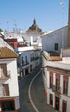 Carmona street with dome Stock Image