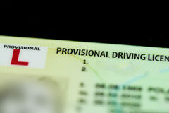 Carné de conducir provisional BRITÁNICO Fotos de archivo