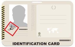 Carné de identidad del terrorista ilustración del vector