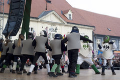 Carn. School children to the sounds of the Russian song Kalinka enjoy the traditional carnival fun in the tourist town of Samobor.In this town, some twenty Royalty Free Stock Images