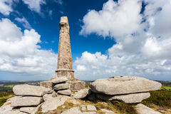 Carn Brea Monument Cornwall Arkivfoton