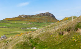 Carn Llidi hill overlooking Whitesands Bay Wales Stock Images