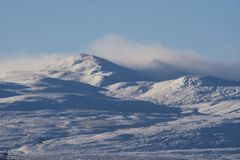 Carn Salachaidh peaks in winter Stock Photography