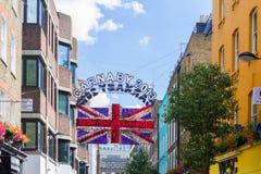 Carnaby街道在伦敦2013年 库存照片