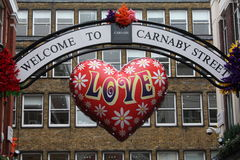 carnaby улица, котор нужно приветствовать стоковые изображения