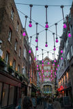 Carnaby and Canton street with decoration in London Royalty Free Stock Image