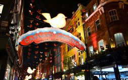 Carnaby Christmas in London. Royalty Free Stock Photo