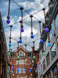 Carnaby and Ganton street with decoration in London Royalty Free Stock Photography
