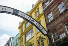 Carnaby gata, London, England Arkivbilder
