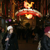 2013, Carnaby Street with Christmas Decoration Royalty Free Stock Images