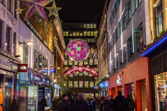 Carnaby Street at Christmas Royalty Free Stock Images