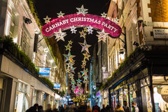Carnaby Street at Christmas Royalty Free Stock Photos