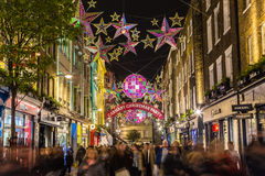 Carnaby Street at Christmas Stock Photo
