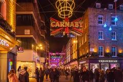 Free Carnaby Street, London, Christmas Lights Display. Royalty Free Stock Photography - 156323897