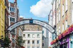 Carnaby street in London. Image was taken on August 2013 Royalty Free Stock Photo