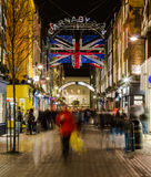 Carnaby Street at night Stock Images