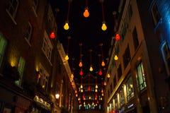 Carnaby ulica nocą Zdjęcie Royalty Free